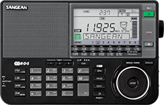 Sangean ATS-909X BK AM/FM/LW/SW World Band Receiver - Black (Renewed)
