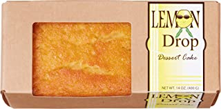 Lemon Drop Dessert Liqueur Cake, Tangy Lemon Infused with Top Shelf Vodka for a Cool Citrus Summer Treat, Handcrafted in Small Batches,14 oz in Box