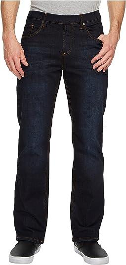 Slate Blue Elastic Waist Jeans