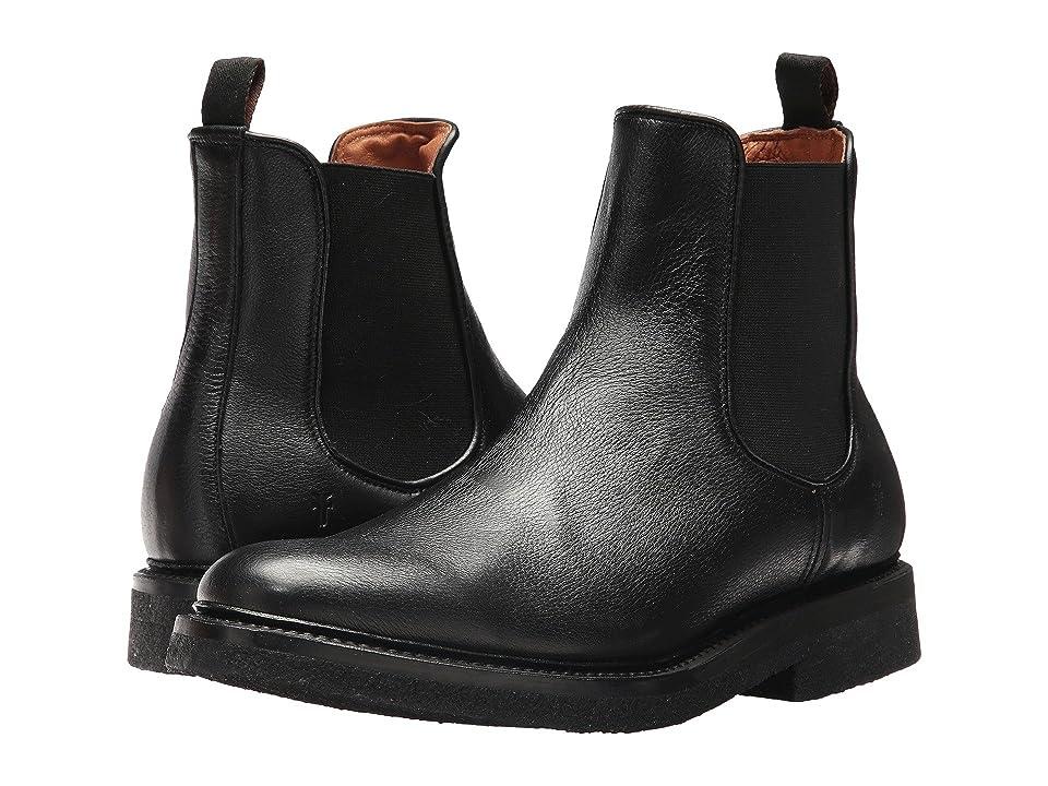Frye Country Crepe Chelsea (Black Deer Skin Leather) Men