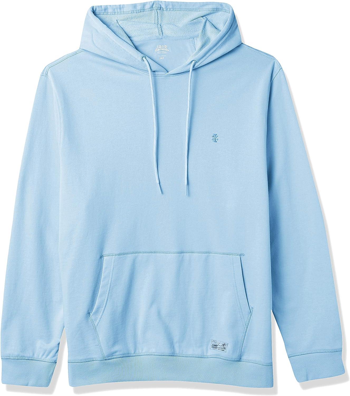 IZOD Men's Big and Tall Saltwater Long Sleeve French Terry Hoodie Sweatshirt