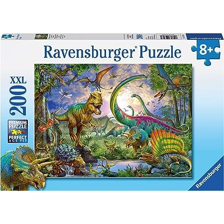 Ravensburger - Le Royaume des Dinosaures - Puzzle 200 pièces XXL - Puzzle enfant - dès 8 ans - 12718