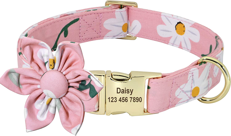 Beirui Custom Soldering Flower Girl Dog Collar Female Floral for 55% OFF Pat Dogs-