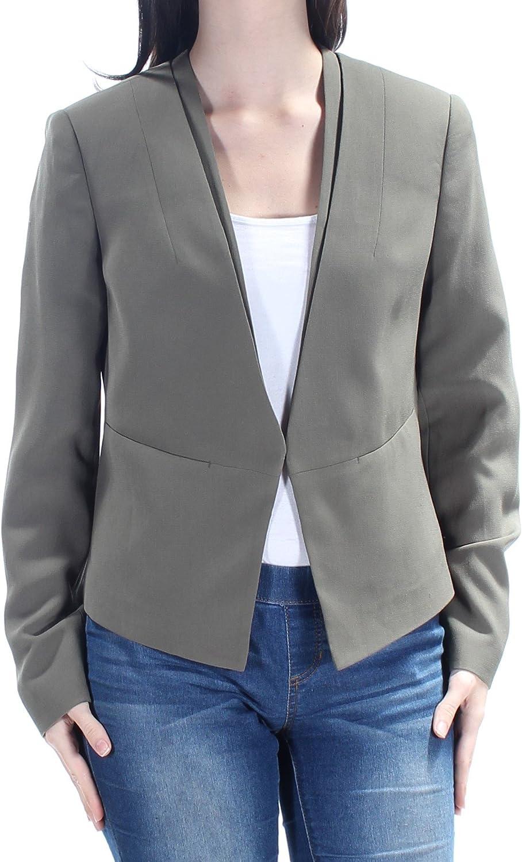 NINE WEST Women's Crepe Kiss Front Jacket