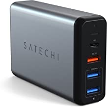 Satechi Type-C 75W Travel Charger with USB-C PD Fast Charge, Quick Charge 3.0 - Compatible with 2019 MacBook Pro, 2018 MacBook Air, 2018 iPad Pro, iPhone 11 Plus Max/11 Plus/11