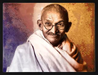 PIPILIKA® Home Decor   UV Laminated   Wonderful Portrait Picture Photo Painting of Mahatma Gandhi - With Framing   17.5 in...