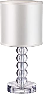 Table Lamp with Acrylic Crystal Body Stacked Ball Design and Textile Lamp Shade, Indoor Decorative Table Lamp,SN-TL021,by Sannice