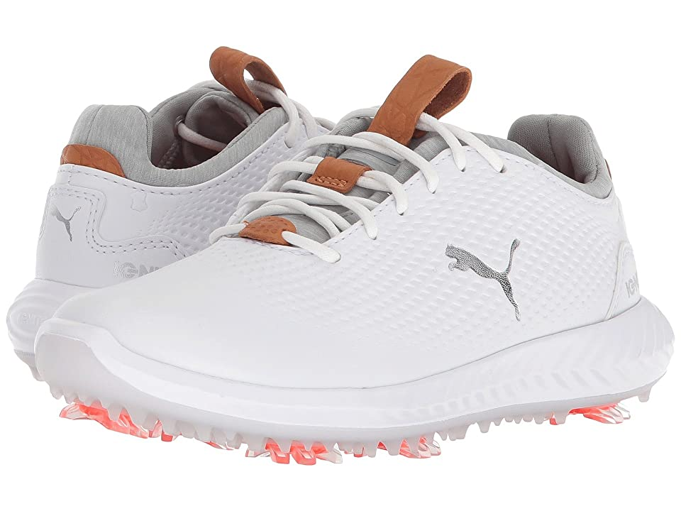 PUMA Golf Ignite Power Adapt Jr (Little Kid/Big Kid) (Puma White/Puma White) Men