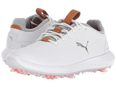 PUMA Golf Ignite Power Adapt Jr (Little Kid/Big Kid) (Puma White/Puma White) Men