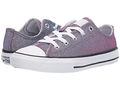 Converse Kids Chuck Taylor All-Star Space Star Ox (Little Kid/Big Kid) (Pure Platinum/Silver/White) Girls Shoes