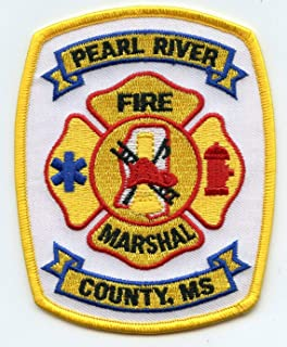 Embroidered Patch - Patches for Women Man - Pearl River County Mississippi MS Fire Marshal FIRE