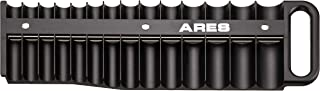 ARES 70219-28-Piece 3/8-Inch Drive Magnetic Socket Holder - Securely Holds 14 Standard and 14 Deep Sockets in Place - Organize Sockets up to 1 Inch or 24mm