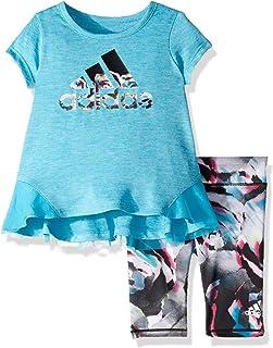 adidas Baby Girls Capri Tight Set