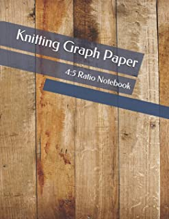 Knitting Graph Paper: 4:5 Ratio Notebook, 110 Pages Blank Graph 8.5 x 11 Knit Journal Design your Own Patterns