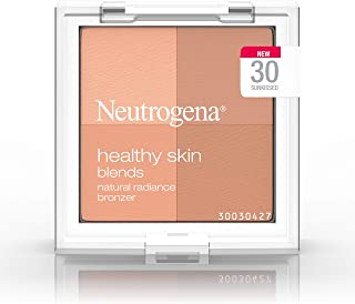 Neutrogena Healthy Skin Blends Powder Blush Makeup Palette, Illuminating Pigmented Blush with Vitamin C & Botanical Conditioners for Blendable, Buildable Application, 30 Sunkissed,.3 oz