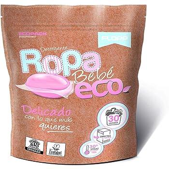 Flopp - Detergente Ecológico en Cápsulas para la Ropa, Pack 8 ...