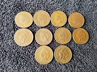 1880 1881 1882 1883 1884 1885 1886 1887 1888 1889 Complete Decade U.S. Indian Head Cents - 10 coins Penny Circulated