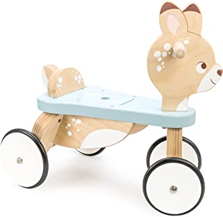 Le Toy Van Petilou Wooden Ride on Deer Premium Wooden Toys for Kids Ages 2 Months & Up