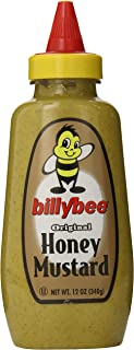 Billy Bee Original Honey Mustard, 12 oz Bottles (Pack of 6)