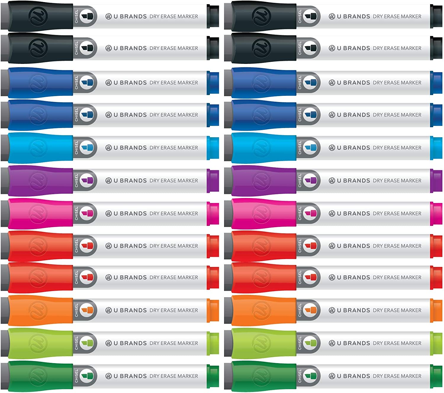 U Brands Cheap SALE Start Low Odor Dry New product Erase Chisel Tip As Erasers with Markers