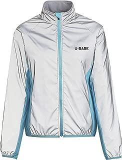 UNINOVA Reflective Jacket Hooded 2X-Large Safety Running Coat Windbreaker Fashionable