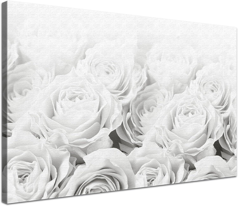 LANA KK - Leinwandbild  Bed Of Of Of Rosas BW  mit Blaumen auf Echtholz-Keilrahmen – Frühling und Natur Fotoleinwand-Kunstdruck in weiß, einteilig & fertig gerahmt in 120x80cm B00GQWCEF0 af09f7