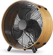 IKOHS Air Studio Bamboo - Ventilador de Suelo de Máxima Potencia, 60W, 3 Velocidades, Diseño de Bambú, Rejilla de Seguridad, 60 W de Potencia, Motor AC, Silencioso, Compacto, Bajo Consumo de Energía