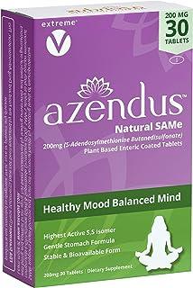 Sponsored Ad - Azendus SAM-e Mood Support 200mg, 30 Count, Same Butanedisulfonate Fiber Enteric Coated Tablets, Physician ...