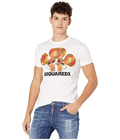 DSQUARED2 Year of The Rat Jersey T-Shirt (White) Men