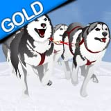 sleddog gara invernale: il cane slitta freddo ghiaccio nel polo nord - gold edition