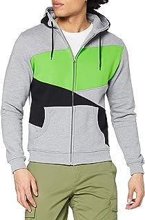 Urban Classics Bekleidung Zig Zag Hoody Sweat-Shirt àCapuche Homme