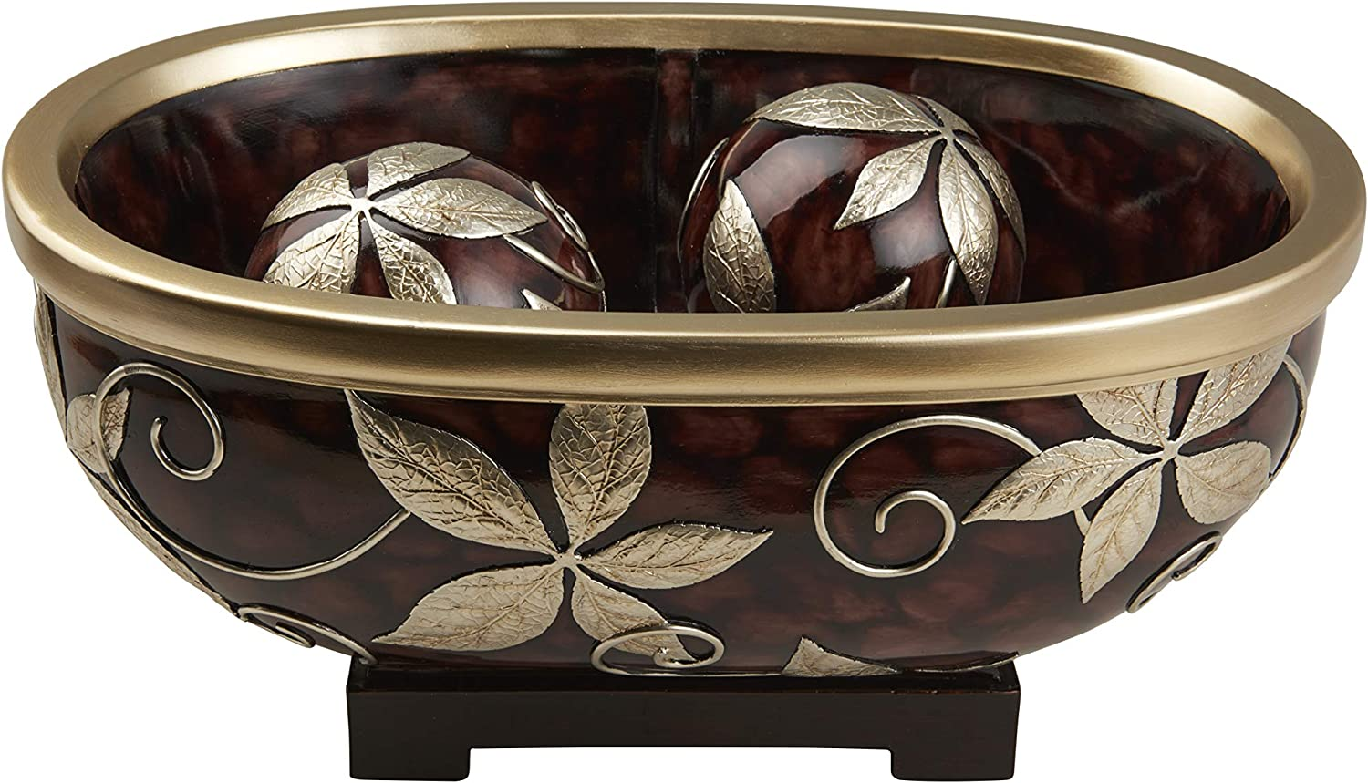 OK Lighting Folius Decorative Bowl Brown Spheres Gold Cheap super special price Surprise price with and