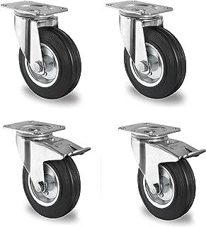 Cometa 4/x 50/mm cargas pesadas ruedas ruedas de transporte ruedas ruedas fijas//freno