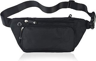 Black Fanny Pack for Men Women Waist Pack Bag Quick Release Buckle Water Resistant
