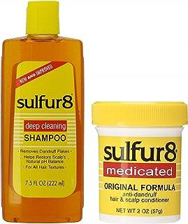 Sulfur8 Anti-Dandruff Hair & Scalp Care Shampoo 7.5oz Conditioner 2oz Duo