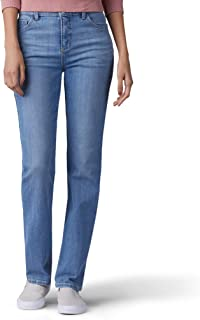 Lee Womens 34036 Classic Fit Monroe Straight-Leg Jean Jeans - Blue - 4