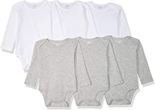 Amazon Essentials 6-Pack Long-Sleeve Bodysuit Mixte bébé, Lot de 6