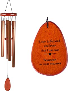 Best Memorial Wind Chimes Personalized Outdoor Sympathy Wind Chimes Gift Keepsake for Deceased Loved Aluminum Tubes Wooden Wind Bell for Garden/Patio Deco 24.5 Inch Review
