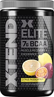 XTEND Elite BCAA Powder Citrus Passionfruit | Sugar Free Post Workout Muscle Recovery Drink with Amino Acids | 7g BCAAs fo...