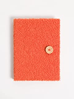 U Brands Hardcover Coral Sherpa Journal with Button and Loop Closure