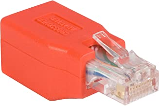 StarTech.com C6CROSSOVER - Adaptador de Cable de Red Gigabit Ethernet Cat6 Directo Recto Straight a Cable Cruzado Crossover UTP Patch RJ45 H a M