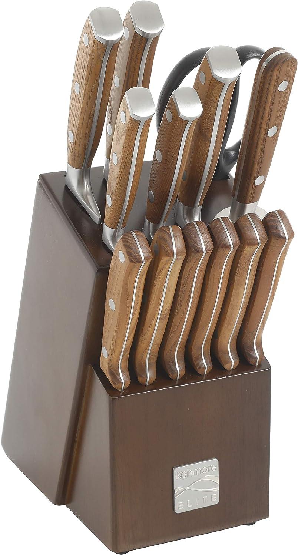 Kenmore Elite Wilson Stainless Steel discount Max 74% OFF 14-Piece Knife Block Set