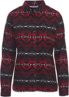 Woolrich Women's Keystone Printed Chamois Shirt, BLACK MULTI (Red), Size S