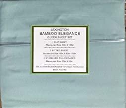 Lexington Bamboo Elegance 2200 Series 18 inch Deep Pocket 6 PC Bed Sheet Sets, ECO Friendly - Hypoallergenic and Wrinkle Free (Light Teal, California King)
