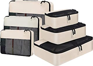 BAGAIL 6 Set Packing Cubes Luggage Packing Organizers for Travel Accessories