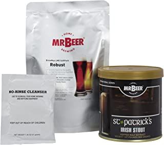 Mr. Beer St. Patrick's Irish Stout Deluxe Home Brewing Beer Refill Kit
