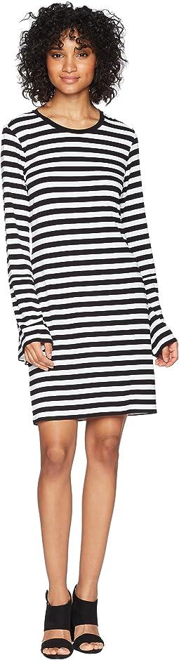 MICHAEL Michael Kors Flare Sleeve Striped Dress