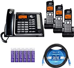 $209 » Motorola ML25255 (ML25254 x1, ML25055 x1) DECT 6.0 2-Line Business Phone and Handset with Answering System Bundle with 2-P...