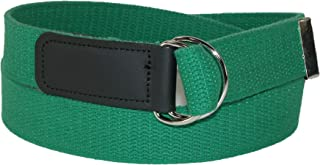 CTM Plus Size Cotton Web Belt with Double D Ring Buckle