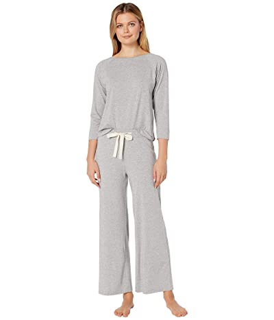 Lilla P Long Sleeve Top Pants Sleepwear Gift Set (Heather Grey) Women